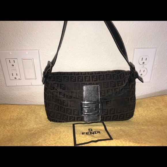197f3606a056 Fendi Handbags - Authentic fendi baguette zucca hobo purse bag